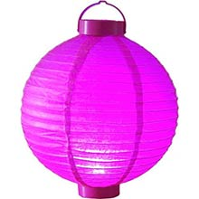 12 inch Glowing Fuschia Lantern