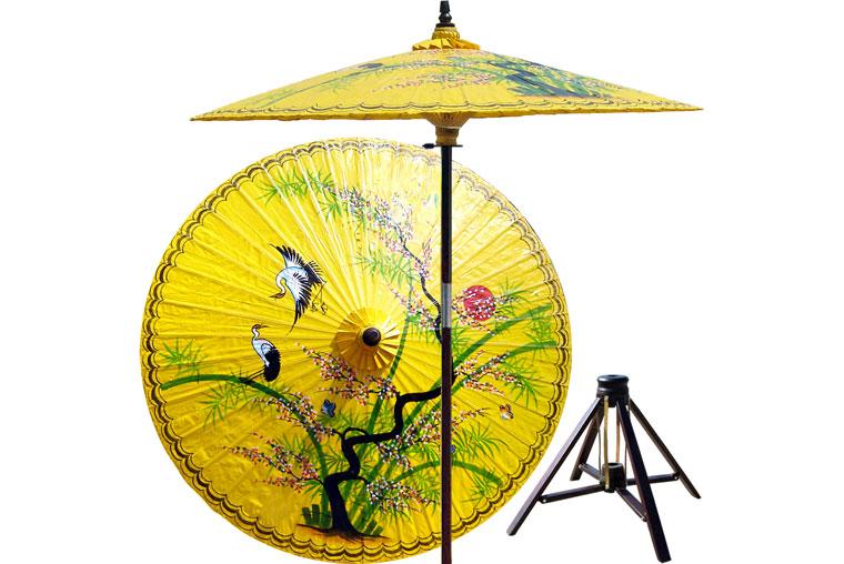 hand-painted patio umbrella
