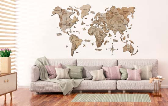 Buy Wooden Wall Maps