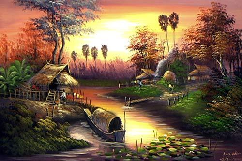 Oriental Paintings Oriental Sunset