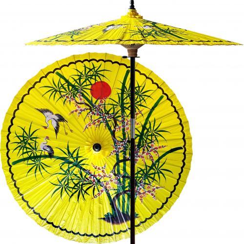 Yellow Patio Umbrella Asian Splendor (Sunburst Yellow) :: Outdoor Patio  Umbrellas