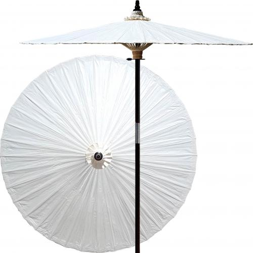 White Patio Umbrella Lychee :: Market Patio Umbrellas