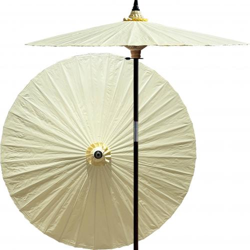 White Outdoor Umbrella Vanilla :: Market Patio Umbrellas