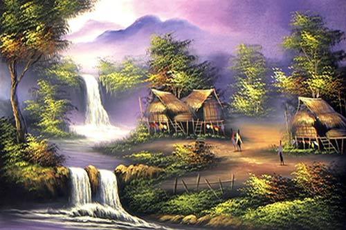 Oriental Paintings Thai Cottage