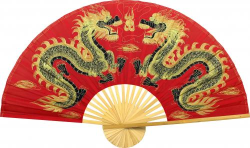 Fiery Dragons :: Chinese Wall Fans