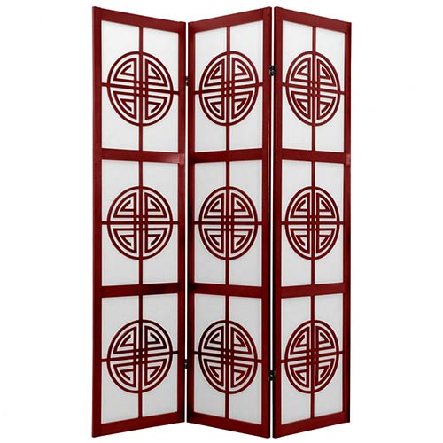 Chinese Taoist Screen (Rosewood Finish) :: Japanese Shoji Screens