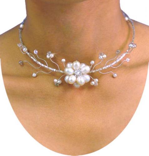 Daisy Choker -- White Pearl :: One of a Kind Specials