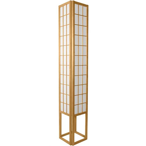 6 Foot Japanese Tower Lamp (Natural Finish) :: Japanese Lamps