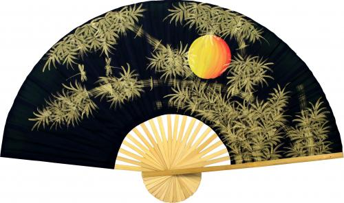 Bamboo Moon Chinese Wall Fans