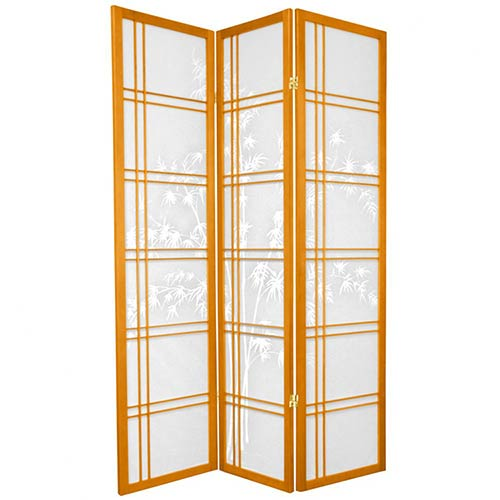 Bamboo Sunrise Japanese Shoji Screen (Honey Finish) :: Japanese Shoji Screens