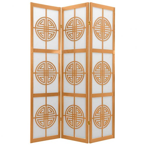 Chinese Taoist Screen (Natural Finish) :: Japanese Shoji Screens