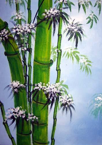 Oriental Paintings Green Bamboo