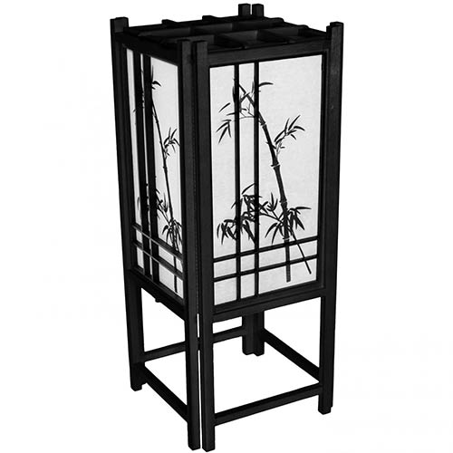 Chinese lamps bamboo chinese lamp black finish for Asiatische sofas