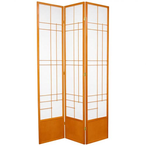 "84"" Hinaga Shoji Screen (Honey Finish) :: 84"" Tall Shoji Screens"