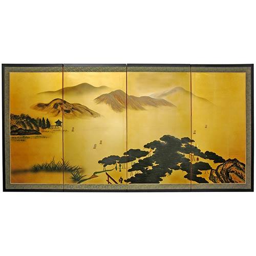 Chinese Silk Paintings Taoist Mountains