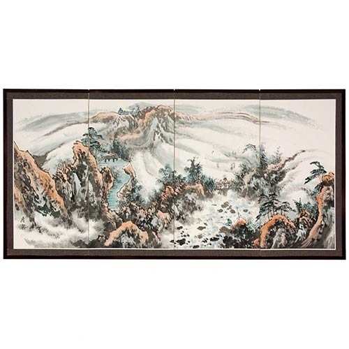 Mystical Mountains :: Japanese Silk Paintings