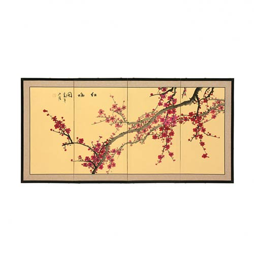 Spring Blossoms :: Japanese Silk Paintings