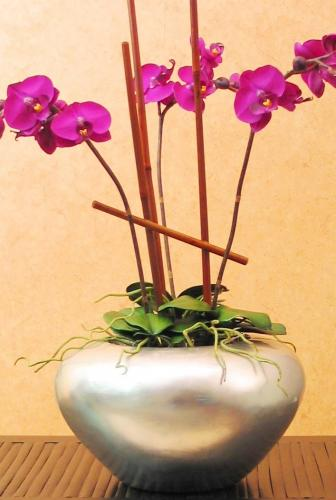 Wooden Table Vases 7 Quot Silver Leaf Orchid Vase