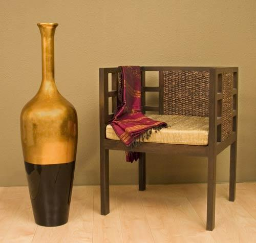 Large Floor Vases 43 Quot Black And Gold Lacquer Floor Vase