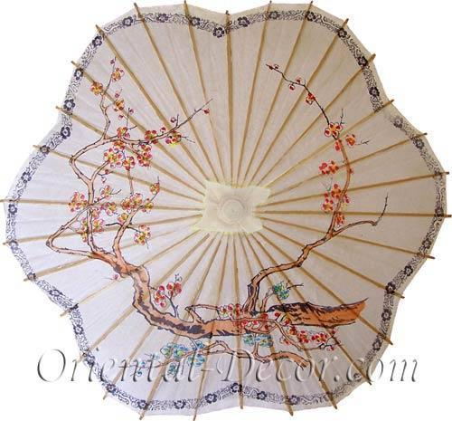 Scalloped Chinese Parasol :: Paper Umbrellas
