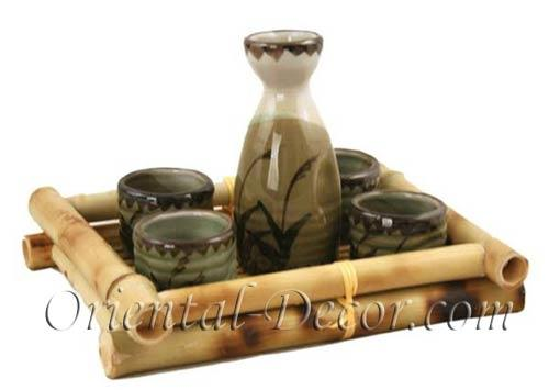 Japanese Flower Sake Set :: Sake Sets
