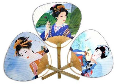 Japanese geisha fan images galleries with a bite - Japanese paddle fan ...