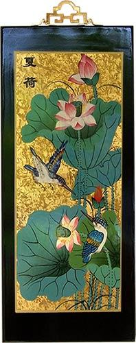 "15.5"" Chinese Hummingbirds :: Wall Carvings"