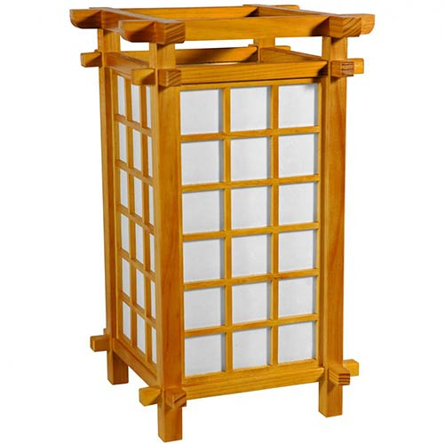 Edo Period Lamp (Honey Finish) :: Japanese Lamps