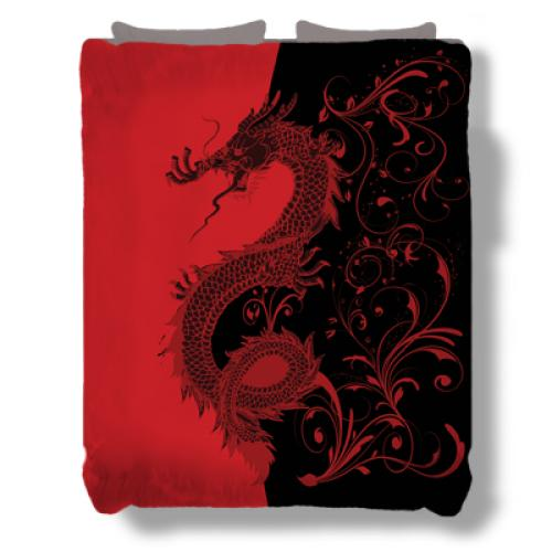 Asian Bedding Cotton Blend Bedding Sets Uamp Duvet Covers Ebay - Chinese dragon comforter set