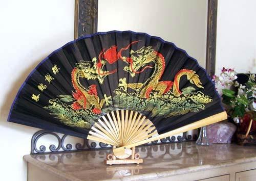 Mysterious Dragons Table Fan :: Table Display Fans