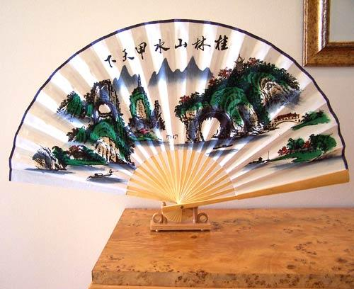 Mountains of China Table Fan :: Table Display Fans