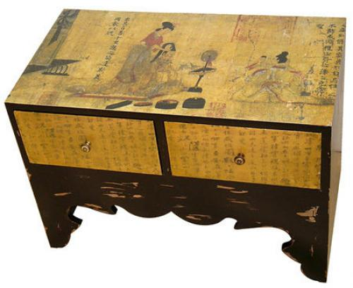 Asian style furniture traditional calligraphy two for Chinese furniture wholesale