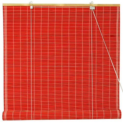 Bamboo Roll Up Blinds - Red :: Window Blinds