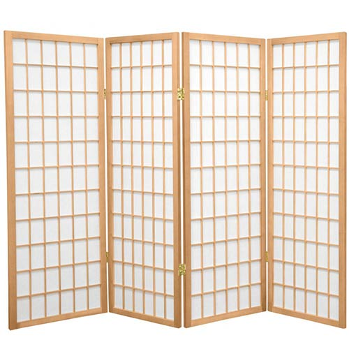 "48"" Window Screen (Natural Finish) :: 48"" Short Shoji Screens"