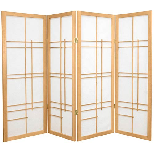"48"" Hinaga Screen (Natural Finish) :: 48"" Short Shoji Screens"
