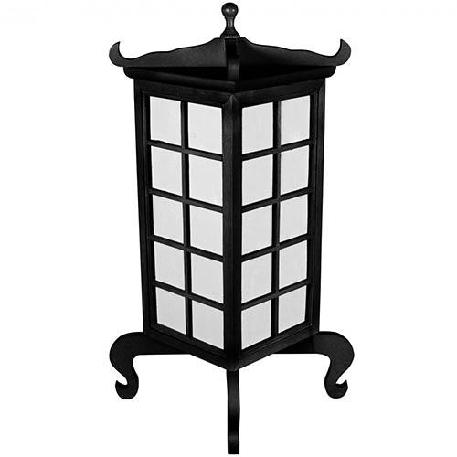 Japanese Lamps Kobe Japanese Lamp Black Finish