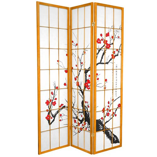 Japanese Cherry Blossom (Honey Finish) :: Japanese Shoji Screens