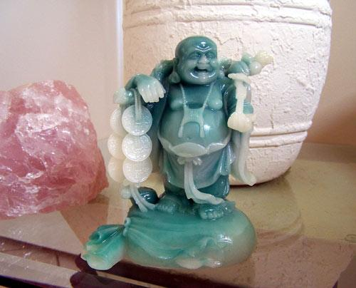 Buddhist Statues Lucky Money Buddha Jade Color