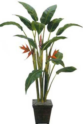 artificial house plants 7 foot tall giant heliconia tree