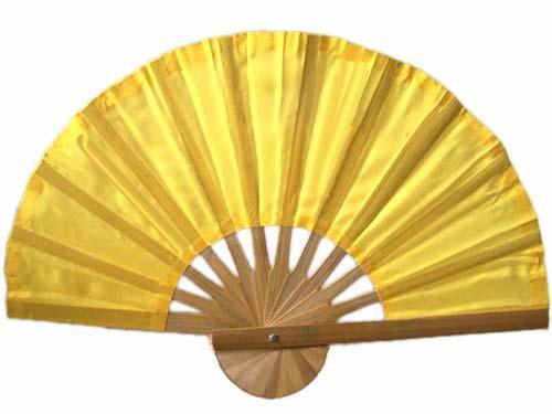 Asian Hand Fans :: Yellow Bamboo Hand Fan
