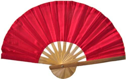 Asian Hand Fans Red Bamboo Hand Fan