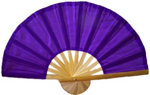 Asian Hand Fans :: Purple Bamboo Hand Fan