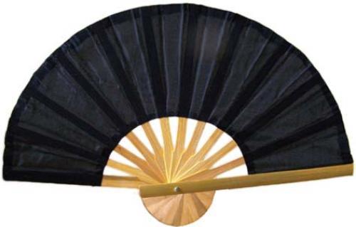 asian fans black bamboo fan