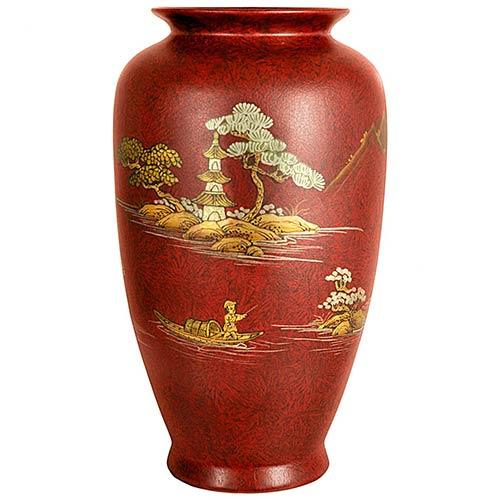 Porcelain Vases Red Tung Chi Vase