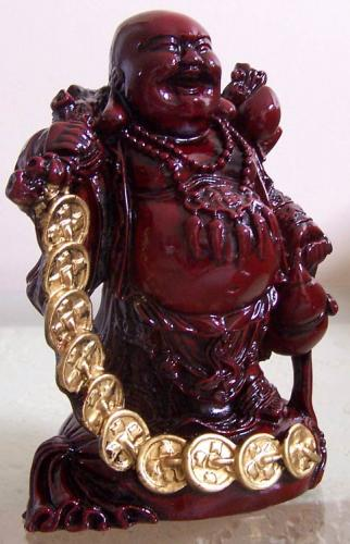Buddhist Statues Lucky Gold Coin Money Buddha