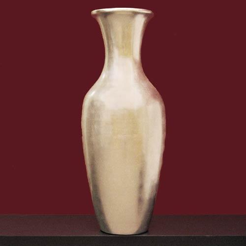 Decorative Vases 28 Silver Leaf Lacquer Classic Floor Vase