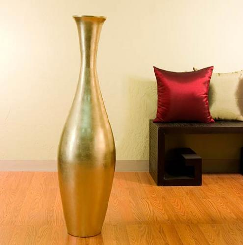 Large Floor Vases 44 Gold Egret Large Floor Vase