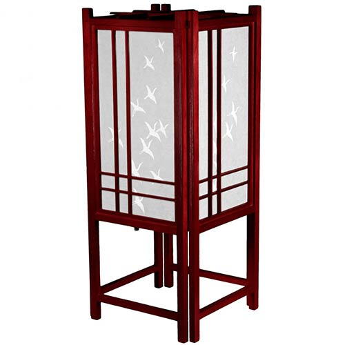 Cranes in Flight Lamp (Rosewood Finish) :: Chinese Lamps