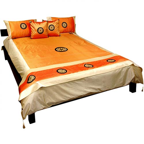 Amber Silk Thai Medallion Bedding :: Silk Bedding