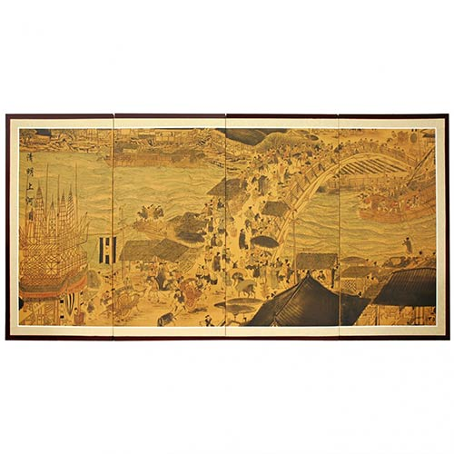 Ching Ming Festival :: Japanese Silk Paintings